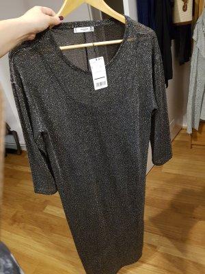 Mango Dress black-silver-colored