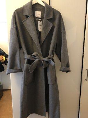 Mango - Grauer Mantel aus Wollmix - 38