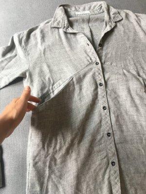 Mango Camisa de manga larga color plata