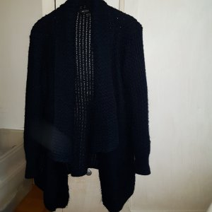 Mango Grobstrick lange Strickjacke navy one size
