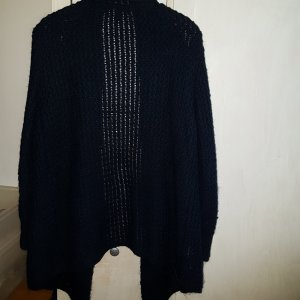 Mango Coarse Knitted Jacket dark blue