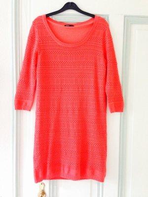 Mango Sweater Dress red-magenta