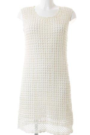 Mango Gebreide jurk wolwit-room Katoen