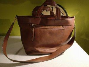 Mango Handtasche * braun * groß * stylisch