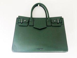 MANGO Handtasche grün Lederoptik mit Schultergurt