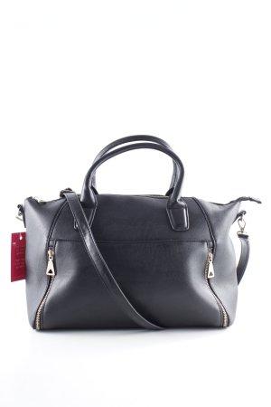 Mango Handtasche schwarz-purpur Casual-Look