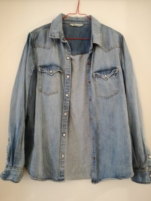 MNG Jeans Camicia denim multicolore Cotone