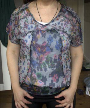 Mango - Hemd - Blumen - Durchsichtig - gr.L