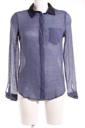 Mango Hemd-Bluse blau-dunkelblau Streifenmuster Business-Look