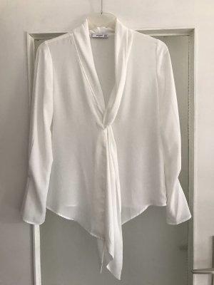 Mango Hemd Bluse in weiß mit Trompetenärmel S Neu