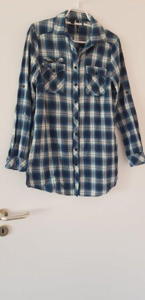 Mango Basics Houthakkershemd zwart-blauw