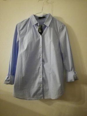 Mango Shirt met lange mouwen azuur-neon blauw Katoen