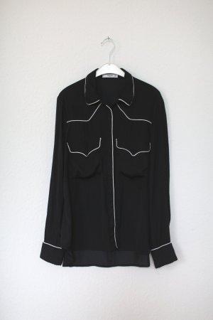 Mango Hemd Western Pyjama Gr. M dunkelblau/schwarz Punkte