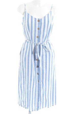 Mango Hemdblusenkleid himmelblau-weiß Streifenmuster Casual-Look