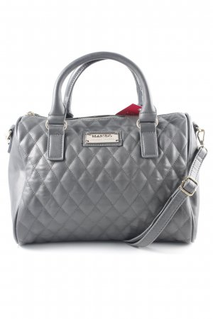 Mango Bolso barrel gris antracita estampado acolchado estilo «business»