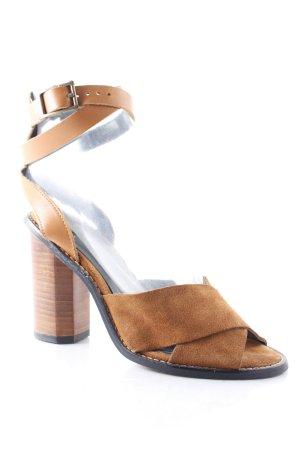 Mango High Heel Sandaletten cognac Hippie-Look