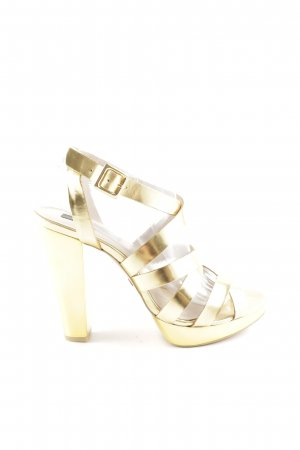 Mango High Heels gold-colored party style