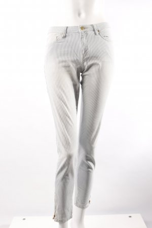 Mango High-Waist-Hose gestreift