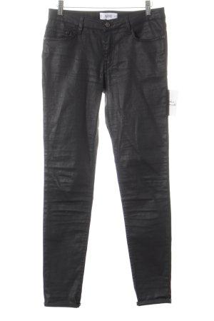 Mango Hoge taille broek zwart minimalistische stijl