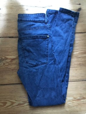 MANGO High Waist Jeans in Blau