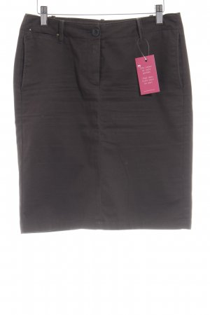 Mango High Waist Rock dunkelbraun Casual-Look