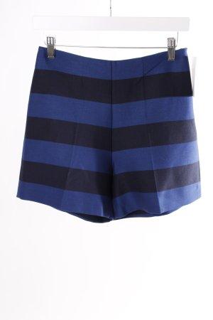 Mango High Waist Shorts blau gestreift