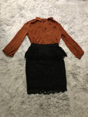 Mango Lace Skirt black