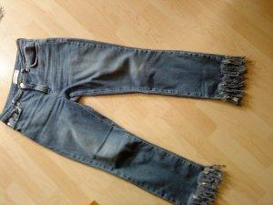 Mango Denim & Tees Jeans taille haute bleu azur-bleu acier coton