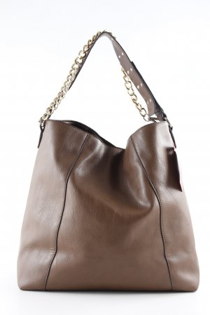 Mango Hobo braun-goldfarben Casual-Look