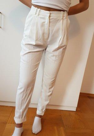 MANGO Hose Bundfalten Hose Suitpant white Anzughose weiß *NEU*
