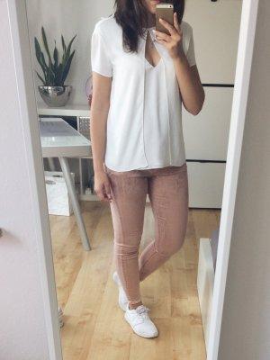 Mango Hose Jeans Gloss rosa schimmernd metallic Gr. 36 NEU