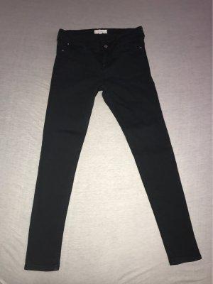 Mango Denim & Tees Pantalón de tubo negro