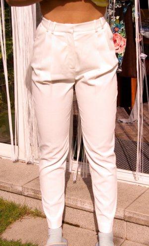 Mango Hose Suitpant Bundfalten Anzughose weiß