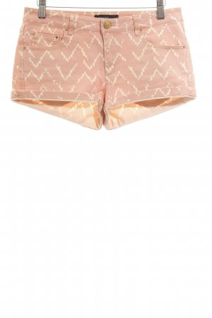 Mango Hot Pants nude-wollweiß Zackenmuster Casual-Look