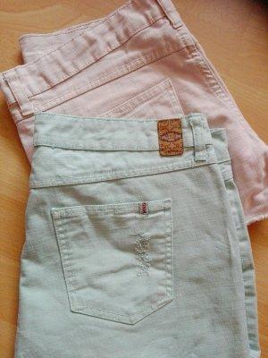 Mango Hotpants türkis 40