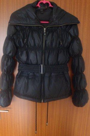 Mango Jacke Daunenjacke mit Gürtel Gr. XS schwarz Winterjacke