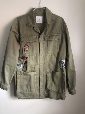 Mango Military Jacket olive green