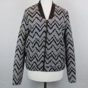 MANGO Jacke Gr. XS schwarz/weiß Muster