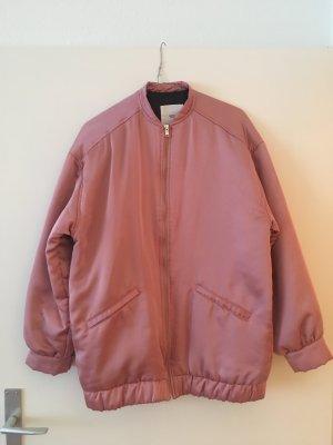 Mango Jacke rosa pink fast neu Blogger Satin Gr. S / 36