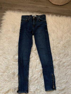 Mango High Waist Jeans dark blue