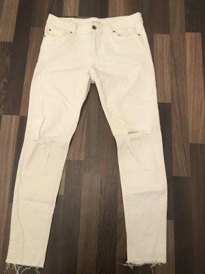 Mango Tube jeans wit-wolwit