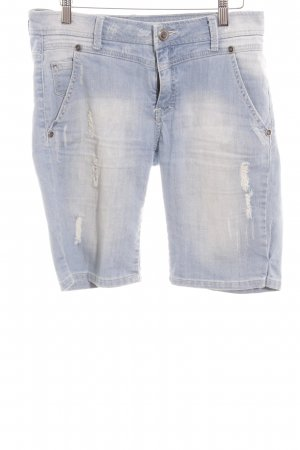 Mango Jeans 3/4 Jeans himmelblau Washed-Optik