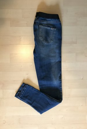 Mango Jeans 34 / XS dunkelblau Waschung Skinny Treggings Jeggins Top Stretch