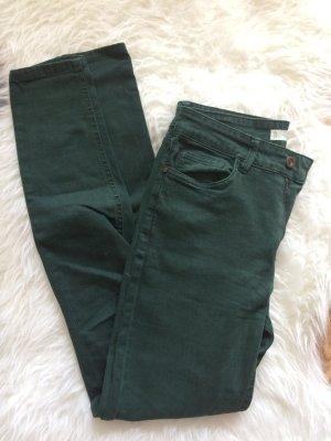 Mango Jeans 38 M 36 S neu Hose Röhren Skinny Herbst grün dunkelgrün