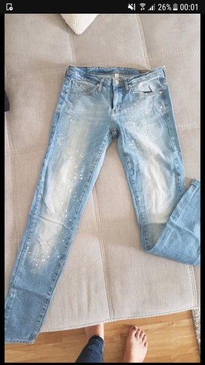 mango jeans arizona super slim farbkleckse