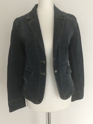 Mango Denim Blazer dark blue