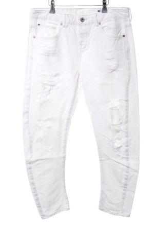 Mango Jeans Boyfriendhose weiß Casual-Look