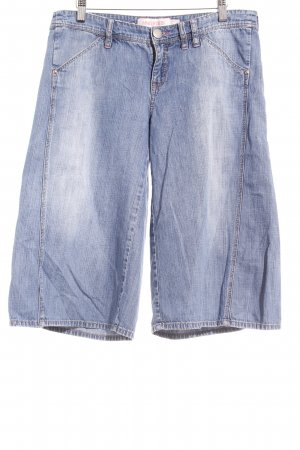 Mango Jeans Culottes staalblauw casual uitstraling