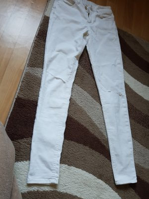 Mango Jeans destroyed look 28 s weiss