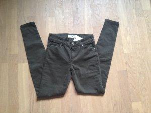 Mango Jeans Elektra Gr. 34 XS Khaki Olive NEU NP 35,99€